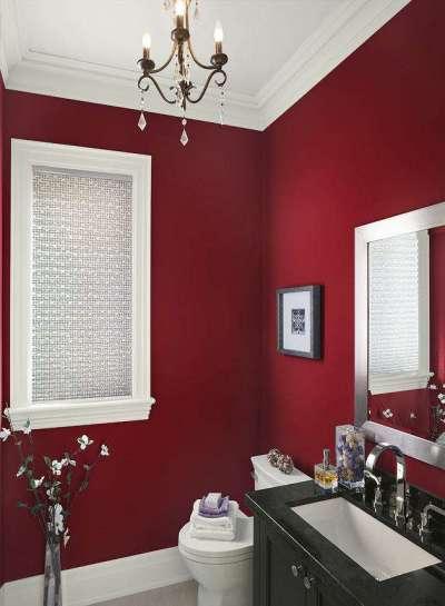 бордовые стены в ванной комнате