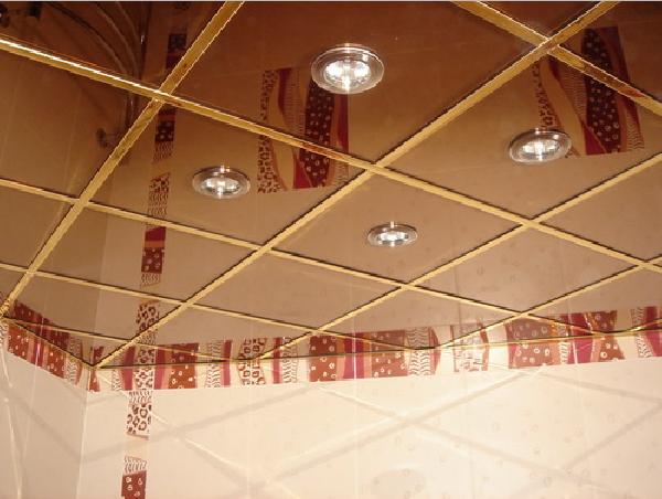 потолок подвесной в ванной комнате