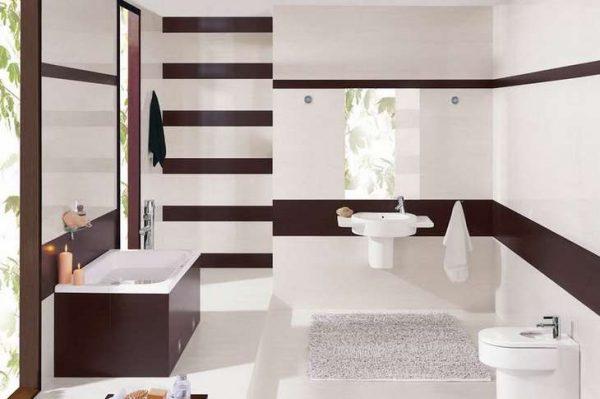 расчет плитки в ванную с бордюром