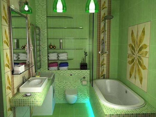 раскладка квадратной плитки в ванной