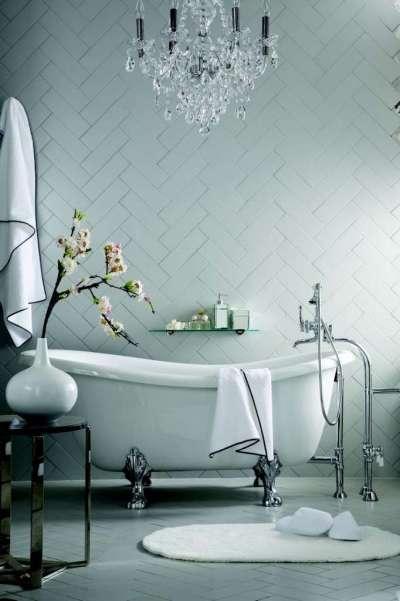 плитка по диагонали в ванной комнате