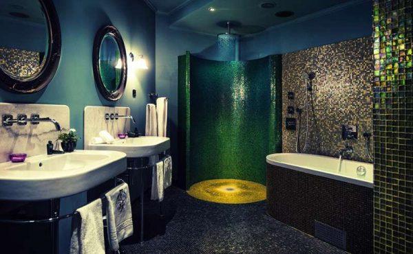 интерьер ванной комнаты в стиле эклектика