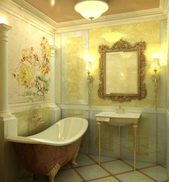 стиль прованс в ванной