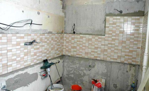 замена проводки в ванной