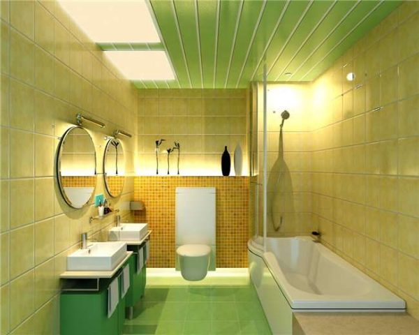 панели пвх в ванной на потолке