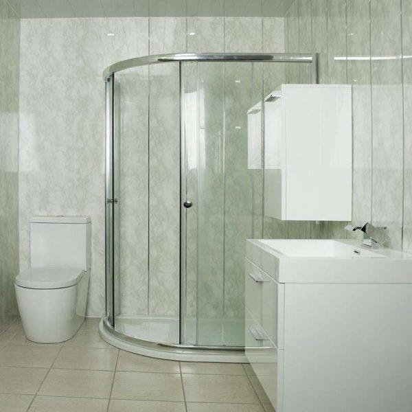 светлые панели пвх в ванной