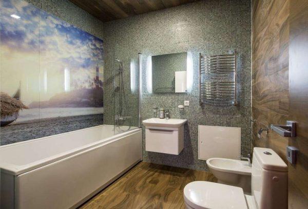 панели пвх с рисунком в ванной