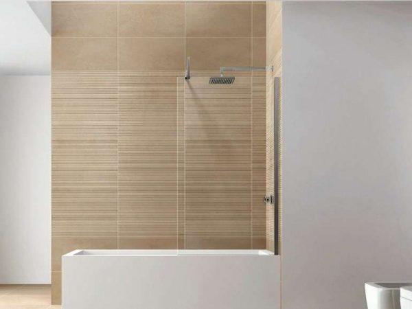 бежевые панели пвх в ванной