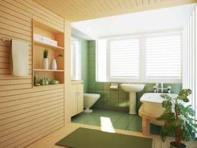 интерьер ванной с пластиковыми панелями