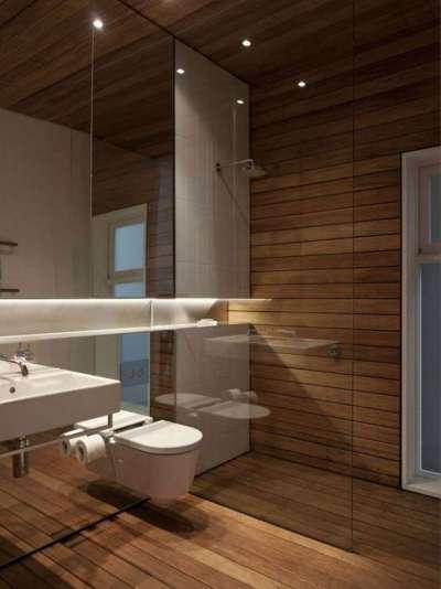 душ без створок в ванной