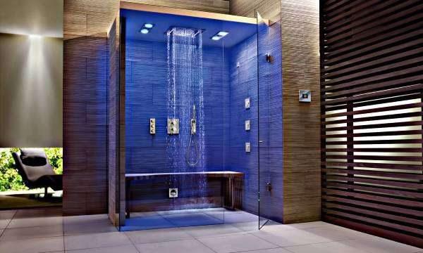 душевая кабина в ванной комнате хай тек