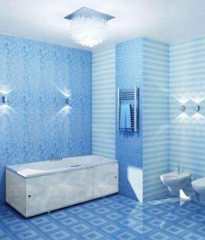 интерьер маленькой ванной с пластиковыми панелями