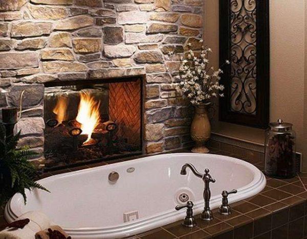 овальная ванна в ванной комнате