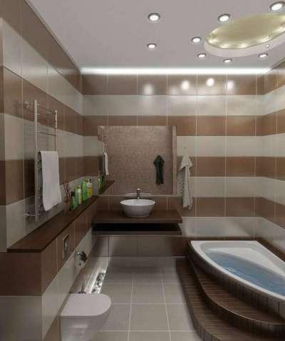 интерьер шоколадной ванной комнаты