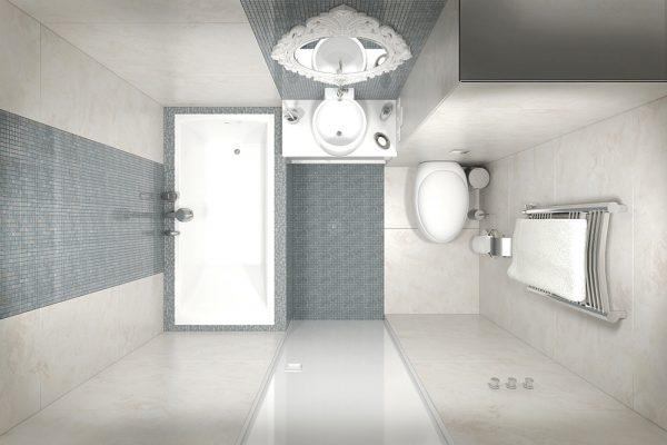 заделка швов в ванной мозаичной плиткой