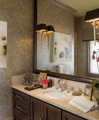 бра в ванной с зеркалом