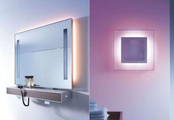 подсветка зеркала в ванной внутренняя