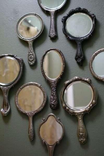 дизайн ванной с карманными зеркалами