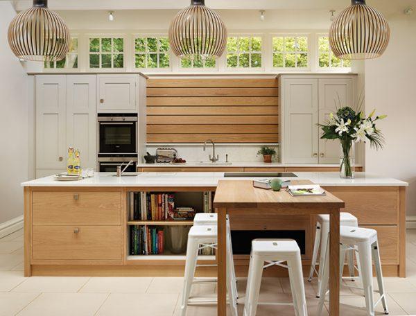 светильники подвесные на кухне в частном доме