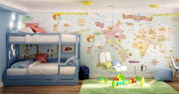 игровая зона в детской для двоих