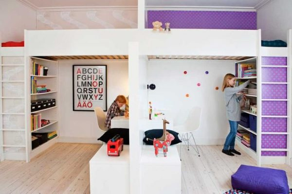 зоны в детской для двоих разнополых детей