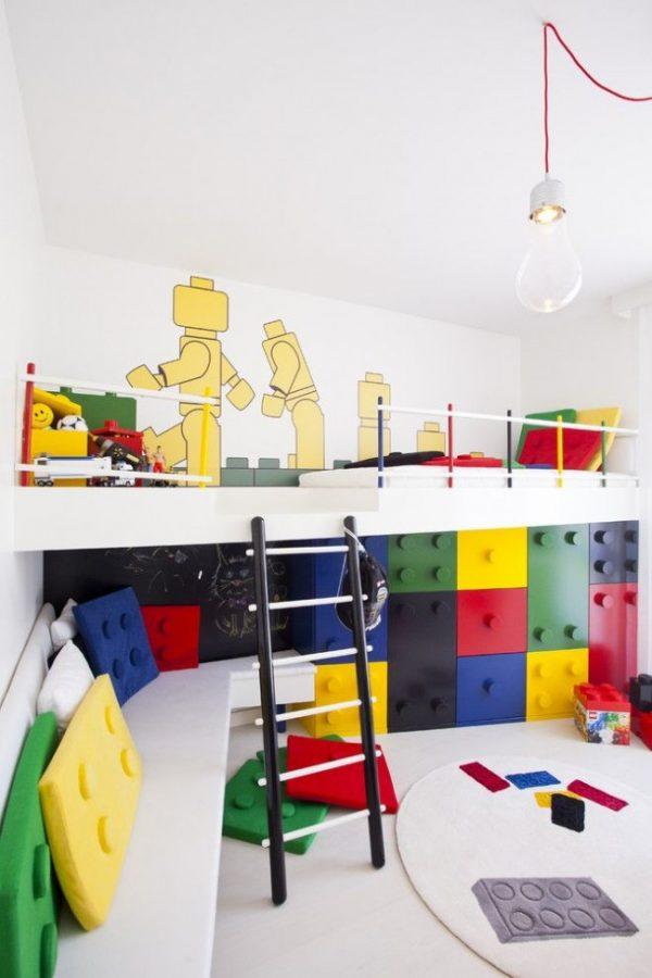 окрашенные стены в детской