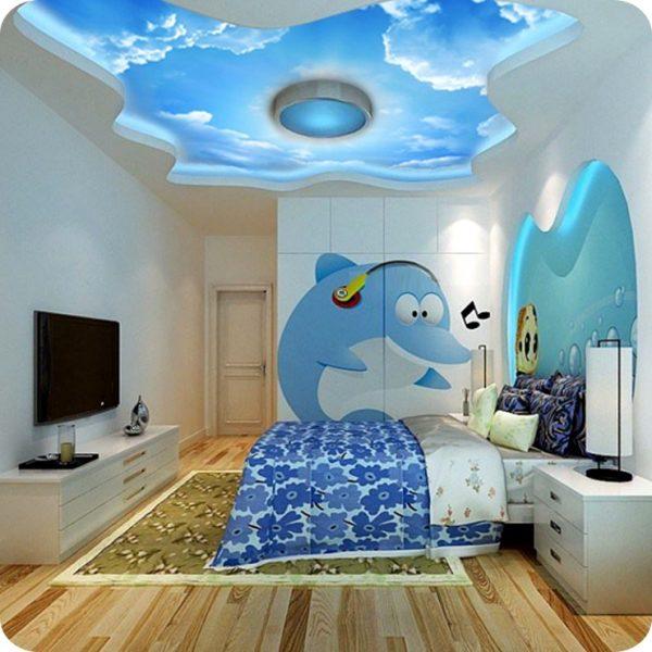 потолок с облаками в детской