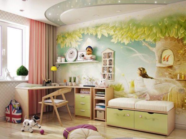 уютная детская с функциональной мебелью