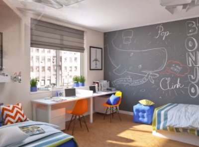 детская комната базовый ремонт