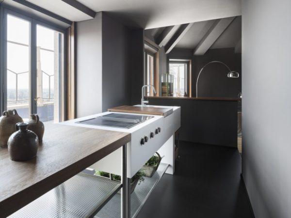 декоративные кувшины на кухне в лофт стиле