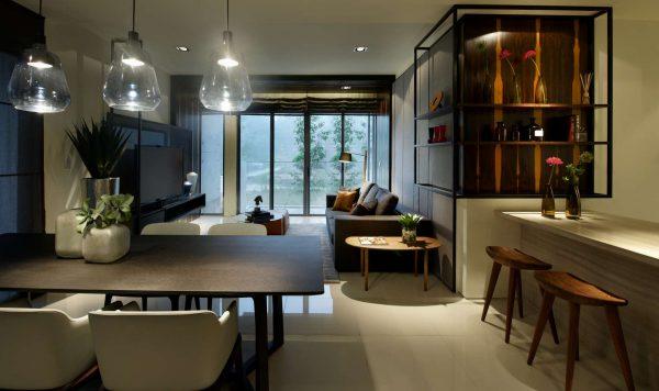 светильники над столом лофт кухни