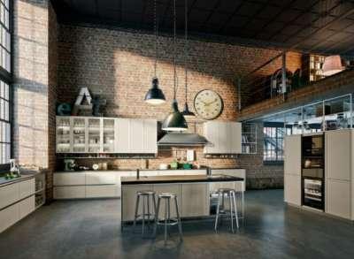 лофт на кухне студии