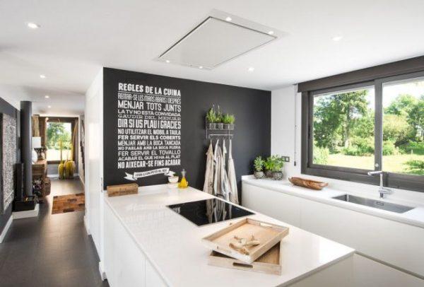 стена на которой можно рисовать на кухне в скандинавском стиле