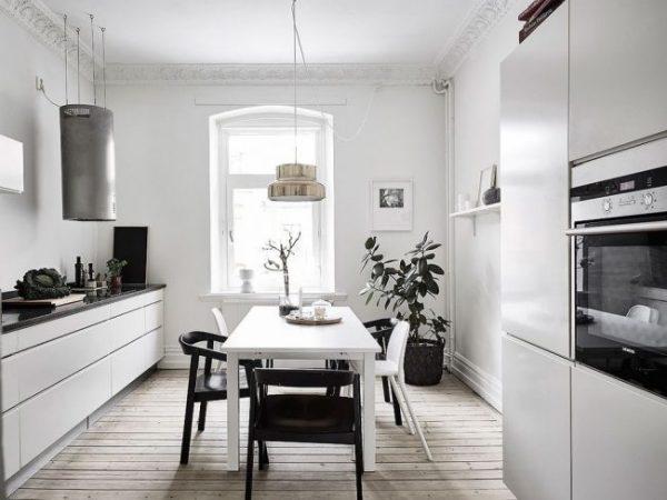 люстра на кухне в скандинавском стиле