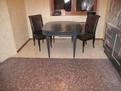 мозаика на полу кухни в хрущёвке