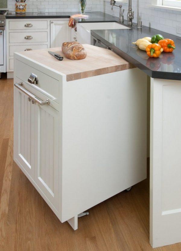 в маленькой кухне мебель трансформер