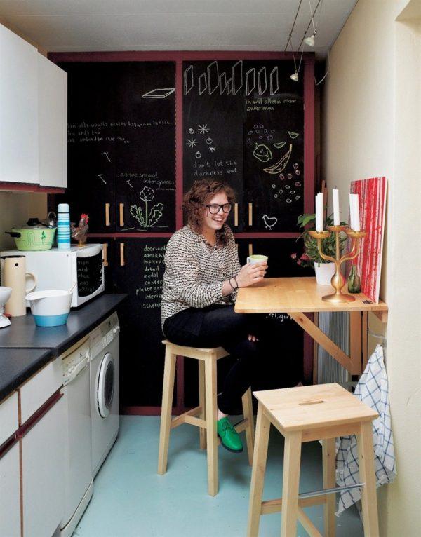 откидной столик на кухне хрущёвке