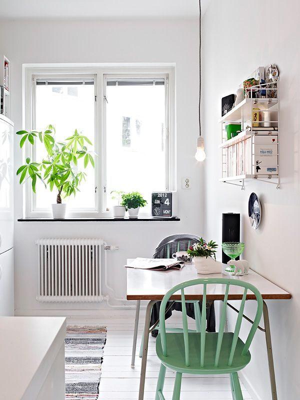 светильник для длинной ножке в маленькой кухне