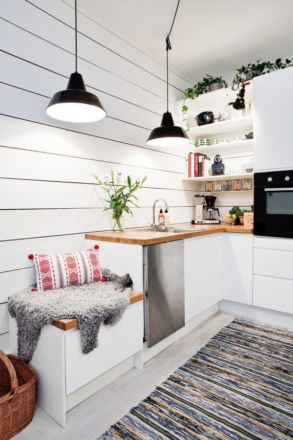 функциональная мебель в маленькой кухне