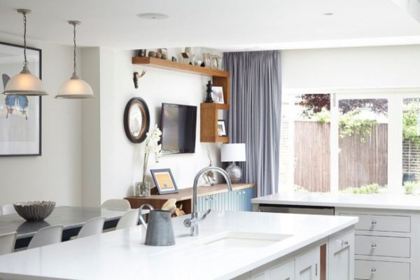 серые шторы холодные для кухни