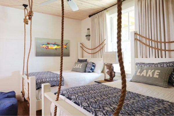 канаты и верёвки для детской комнаты мальчика в морском стиле