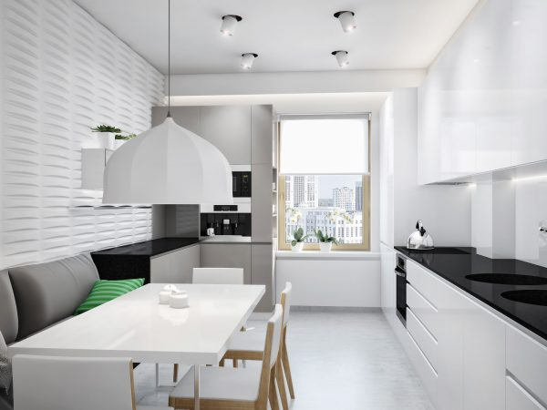 ролеты на кухне минимализм