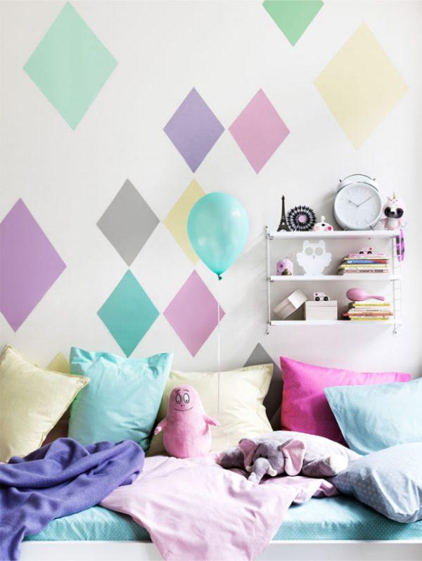 краска на стенах в детской