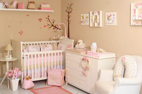 детская для новорождённой девочки