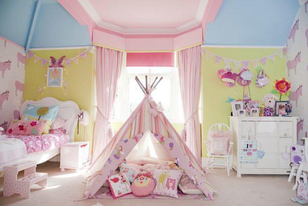 шатёр в детской девочки