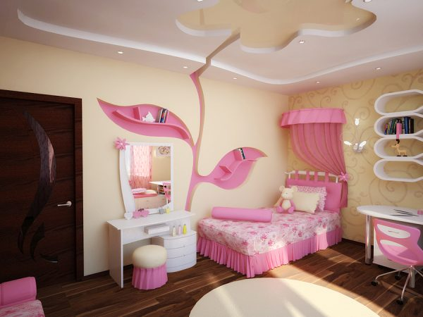 детская для девочки с туалетным столиком