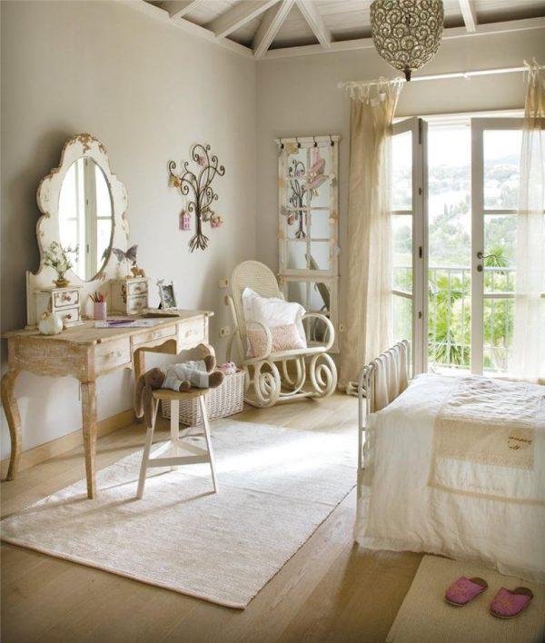 интерьер детской в стиле прованс для девочки
