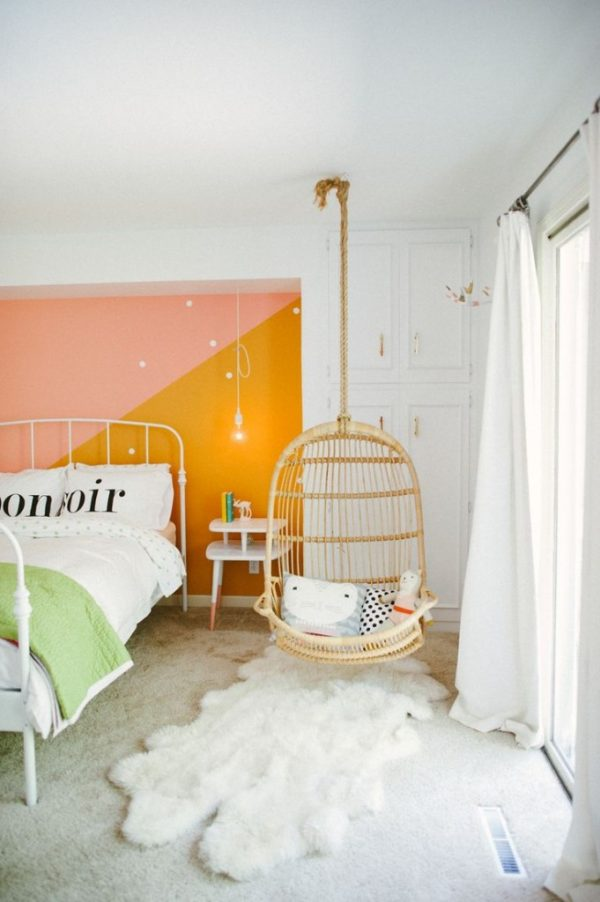 зонирование детской спальни