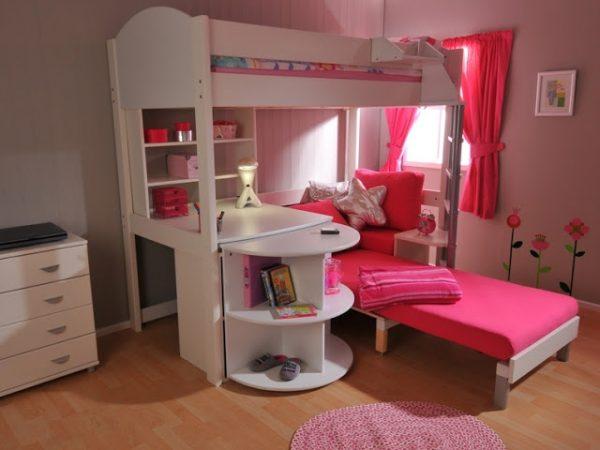 интерьер розовой комнаты для девочек