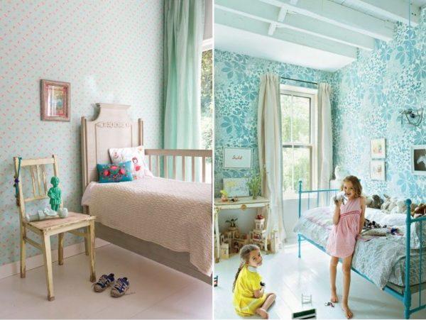 мятный в детской комнате для девочек